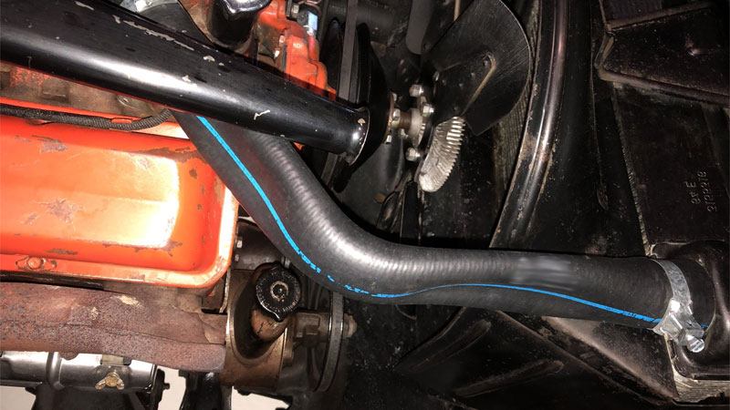 collapsed radiator hose