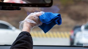 how to clean inside of windshield