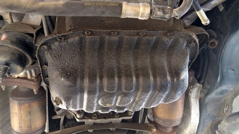 oil pan gasket leak