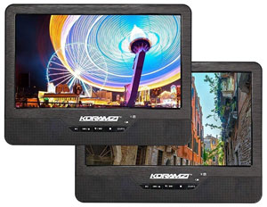 portable DVD player with 2 screens