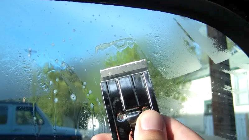 remove window tint glue