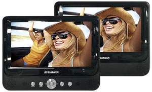 small two screen portable DVD player