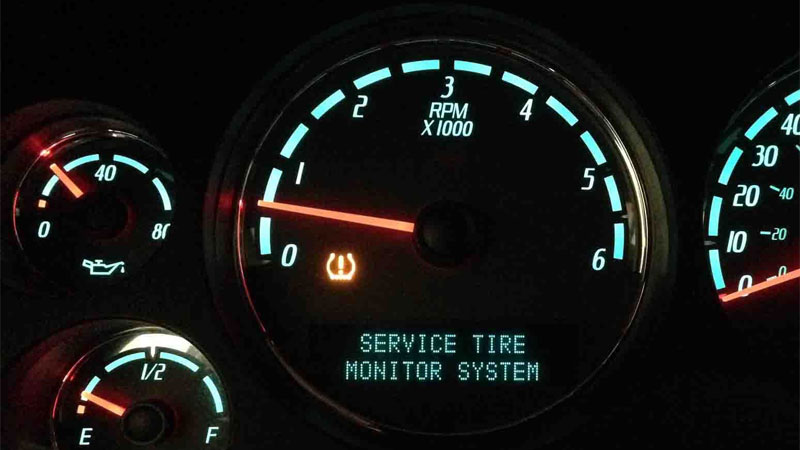 TPMS light turns on