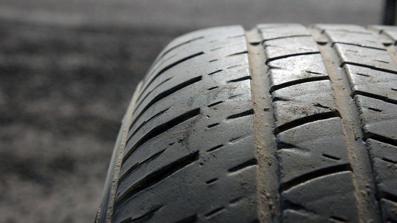 worn tire treads